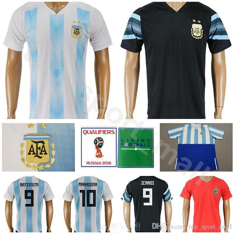 8757a7f2e World Cup 2018 Argentina Jersey Men Soccer 10 MARADONA 8 ZANETTI 9 ...