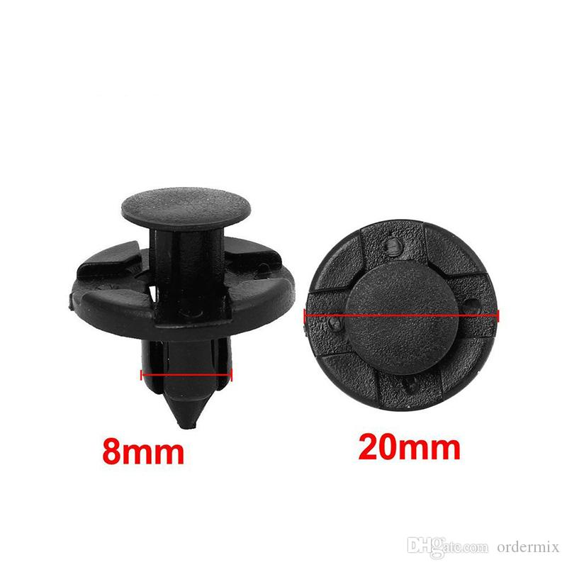 8mm auto Fender fastener vehicle car bumper clips Rivet Retainer Black for Door car Trim Panel for Nissan car styling