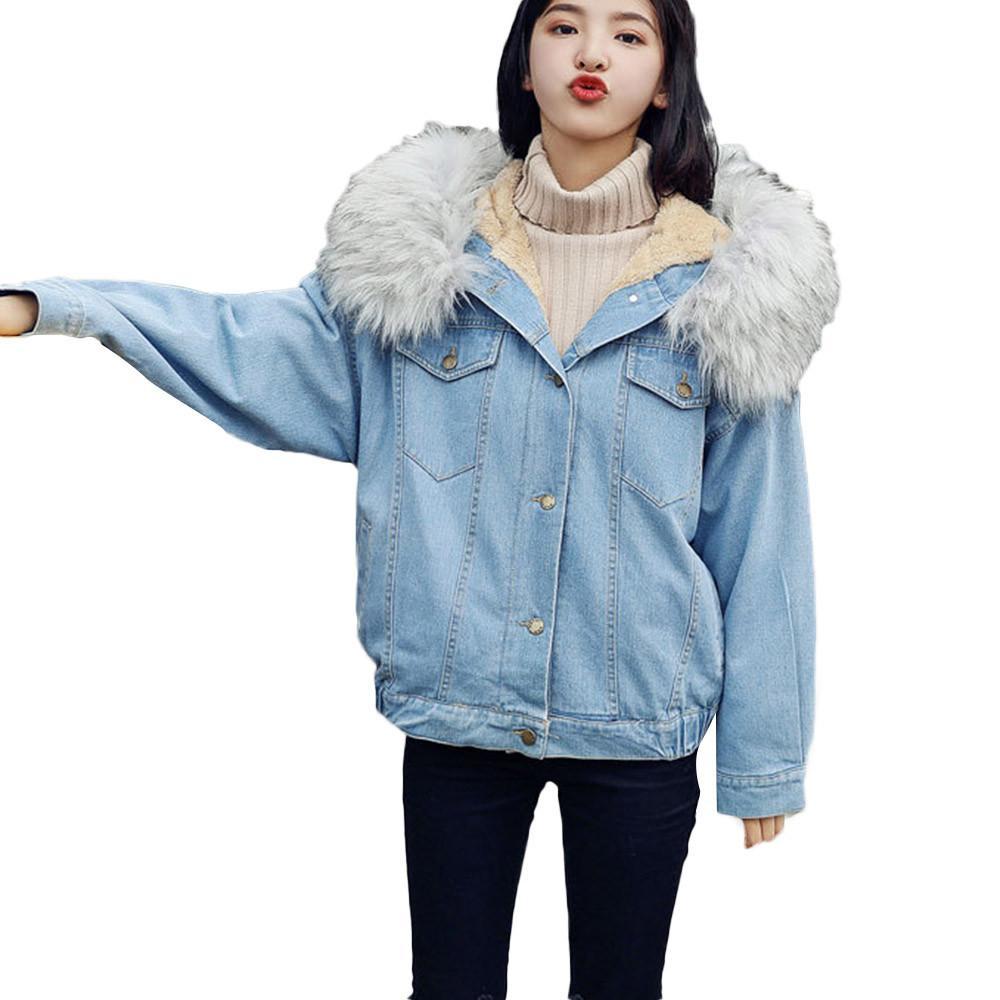 Satın Al Kadınlar Kış Denim üzgün Ceket Vintage Bayan Bayanlar