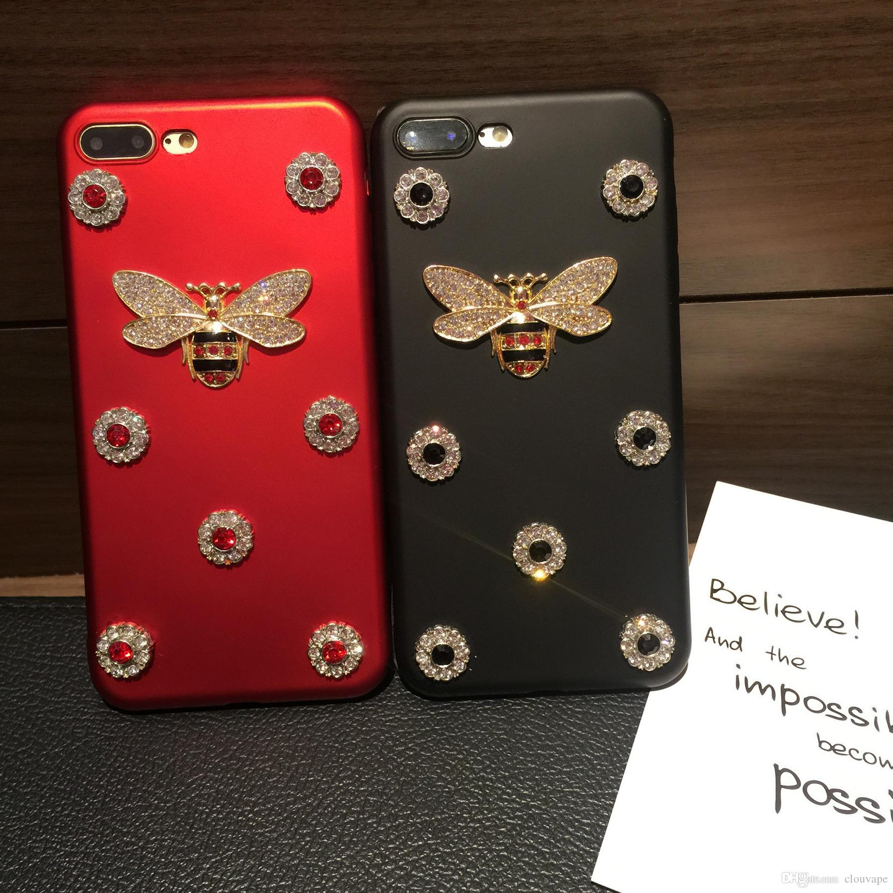 Luxury Glitter Bling Lovely Phone Case For Iphone X 7 7plus 6 6s 8 Rearth Plus Slim Gloss Black 8plus Back Cover Samsung Galaxy S8