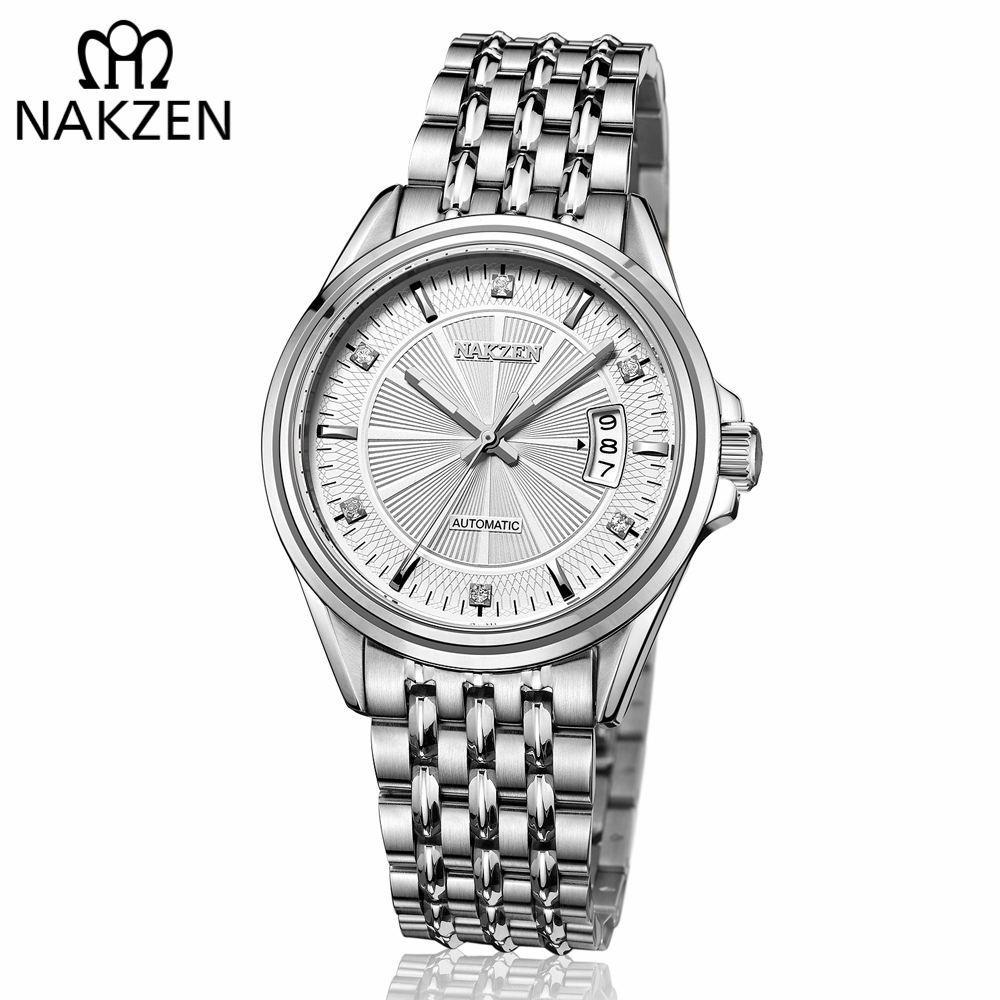b4e1b7f3ae5 Compre Nakzen Top Luminoso Mãos Homens Relógio Mecânico Japão Automático  Mens Diamante Clássico Relógios De Pulso Masculino Relógio Tempo Reloj  Hombre De ...
