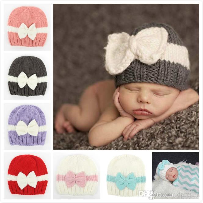 Großhandel Mode Neugeborenen Kinder Baby Hüte Gestrickte Wolle ...