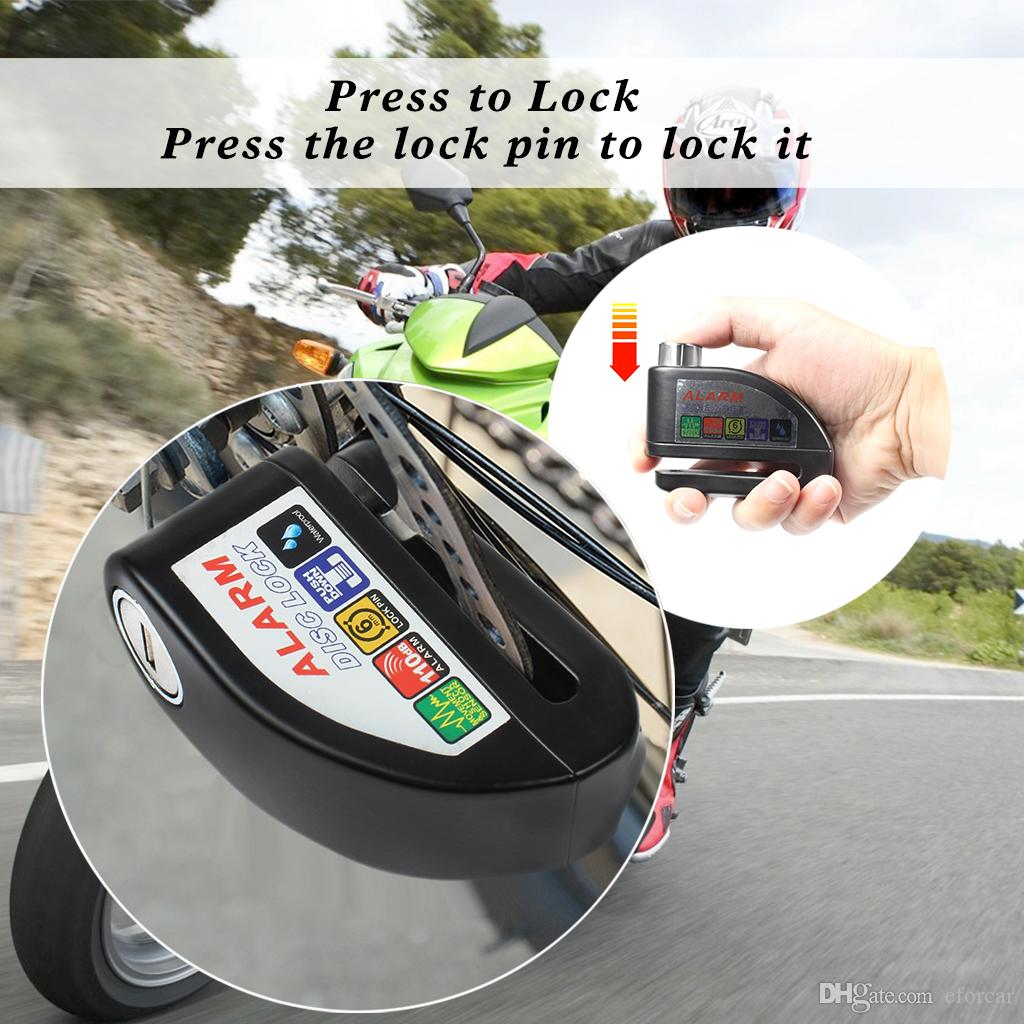 Disc Brake Lock Waterproof Alarm Anti-theft Lock With Screwdriver And Keys For Motorcycle Bicycle Security Theft Protection Tool