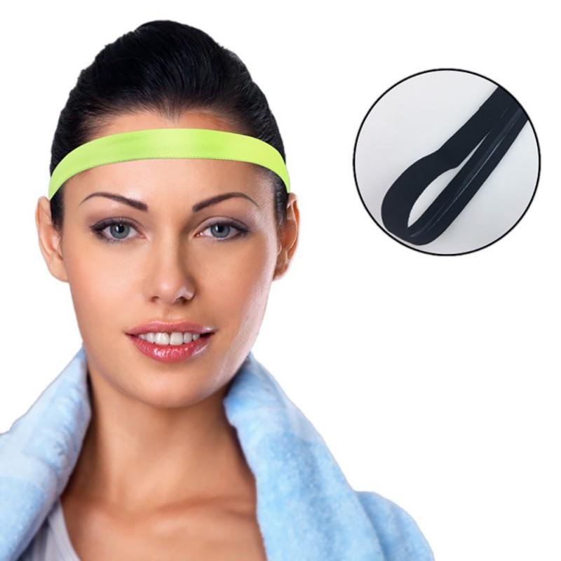 597a45b1bf24 2019 2018 Women Men Yoga Hair Bands Sports Headband Anti Slip Elastic  Sweatband Yoga Running Biking Headscarf Outdoor Sport Hairband From  Shinyday