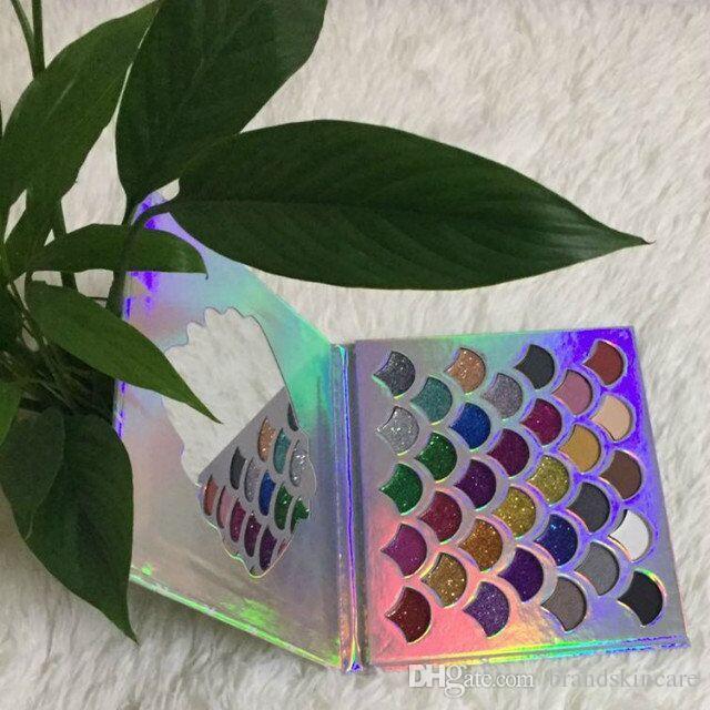 Moda Kadınlar Güzellik Cleof Kozmetik Denizkızı Glitter Prizma Palet Göz Makyajı 32 Renkler Göz Farı Paleti