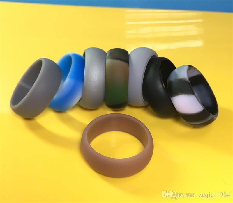 الجدة خاتم الزواج مرنة سيليكون يا الدائري مريحة صالح الخفيف الدائري للرجال تصميم متعدد الألوان للرجال