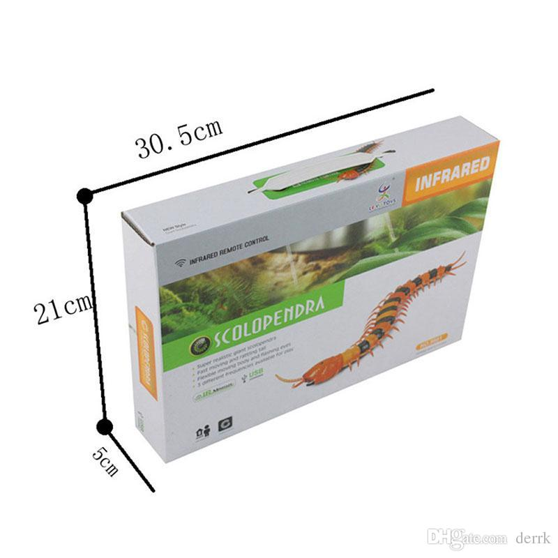 IR RC Ratlesnake Snake Centipede Bionic Reptile Animal 3CH Infrarossi Remote Control Snakes Chilopod Scolopendra Tricky Brains Toys