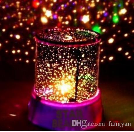 Sternprojektorlampe rotierende Musik LED Sterne Irak Projektor bunte Nachtlicht Schlaf Lampe kreative Geschenke