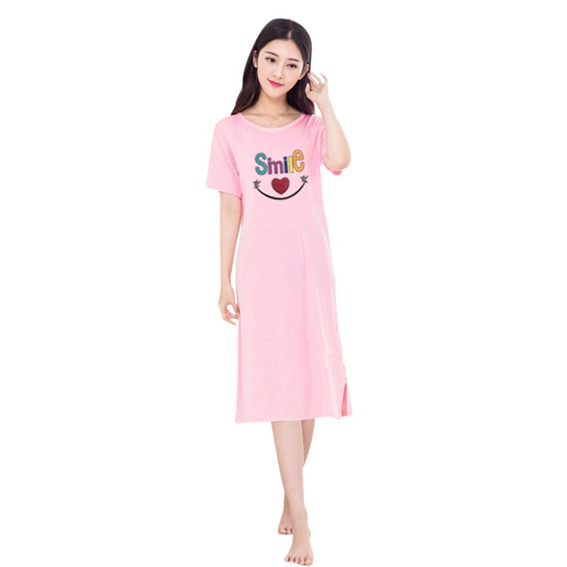 9041883702 2019 12Styles XL Short Sleeve Sleep Dress Night Girl Women Korean Casual  Cartoon Nightwear Sleepwear Printed Cute Dress Home Pink From Lucycloth