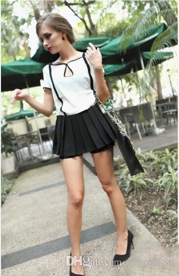 4a93a0d89d2 Wholesale New Women Blouses Ruffle Short Sleeve Chiffon Shirts Plus ...
