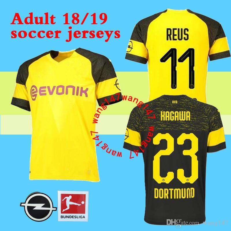b45ad850e Thai Quality 2018 2019 Dortmund Soccer Jersey 18 19 AUBAMEYANG GOTZE KAGAWA  DEMBELE PULISIC REUS Borussia Dort HOME Football Shirts Online with   15.86 Piece ...