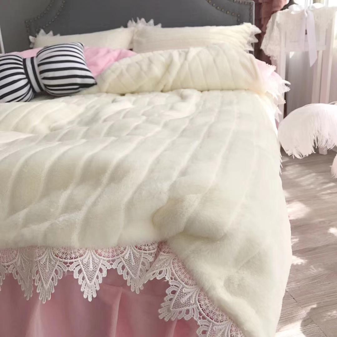 coral baby fleece winter bedding set bed skirt flat sheet and fitted sheet supply four size solid color sleep quickly and nojoy the dream
