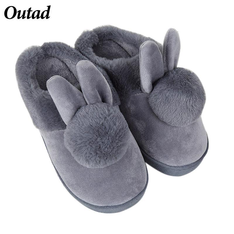 3bb28a80633b OUTAD Home Slippers For Women Rabbit Ears Soft Women s Slipper ...