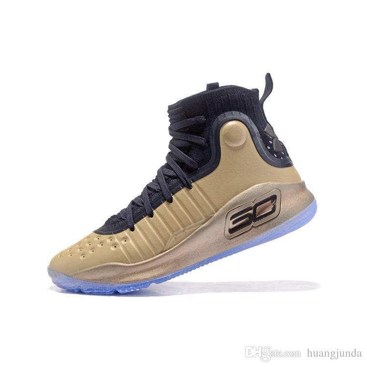 eef99a2d1ca0 2019 Cheap 2018 New Men UA Stephen Curry 4 IV High Tops Basketball Shoes  Championship Pack Gold MVP SC30 Sports Sneakers Boots With Box For Sal From  ...