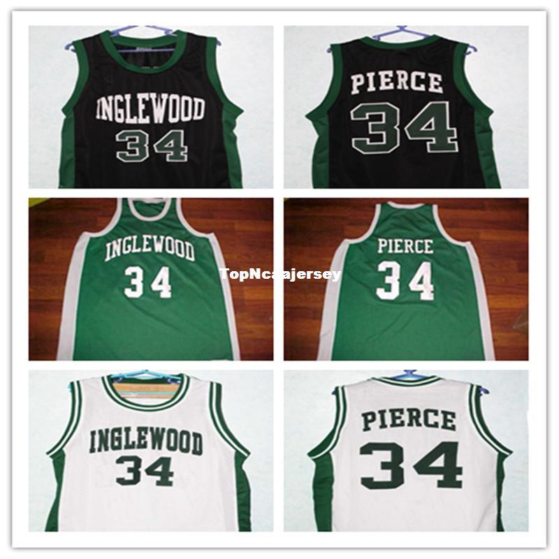cheap for discount 9cb00 1b98e Cheap Paul Pierce #34 Inglewood High School Retro Throwbacks Basketball  Jersey Customize any size number and player name