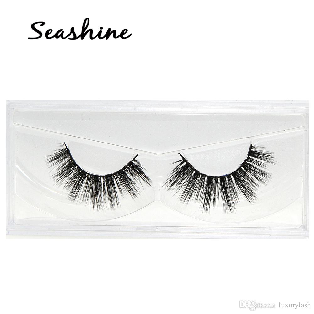e6a12103cb1 2018 Seashine Sexy 100% Handmade Wholesale 3D Mink Eyelashes For Makeup Mink  Individual Fake Eyelashes Extensions Eylure Eyelashes How Much Are Eyelash  ...