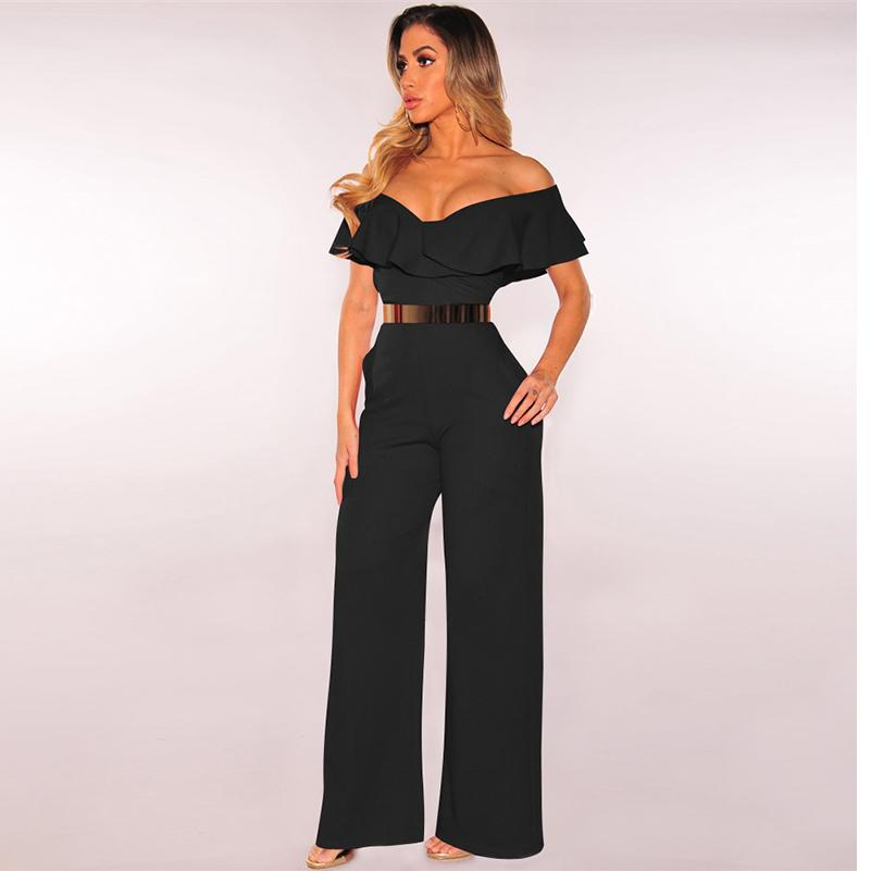 4f0393c5cbd 2019 Hot Sexy Ladies Jumpsuits Summer Casual Solid Style Long Pants ...