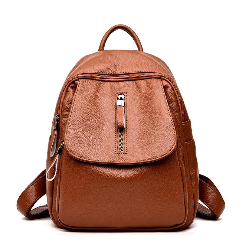 5bd810caa8 2018 Hot Sale Style Female Backpack Fashion Shoulder Bags Backpack Soft  Leather Women Bags For Teenagers Girls Rucksack Backpacks For Men Jansport  Big ...
