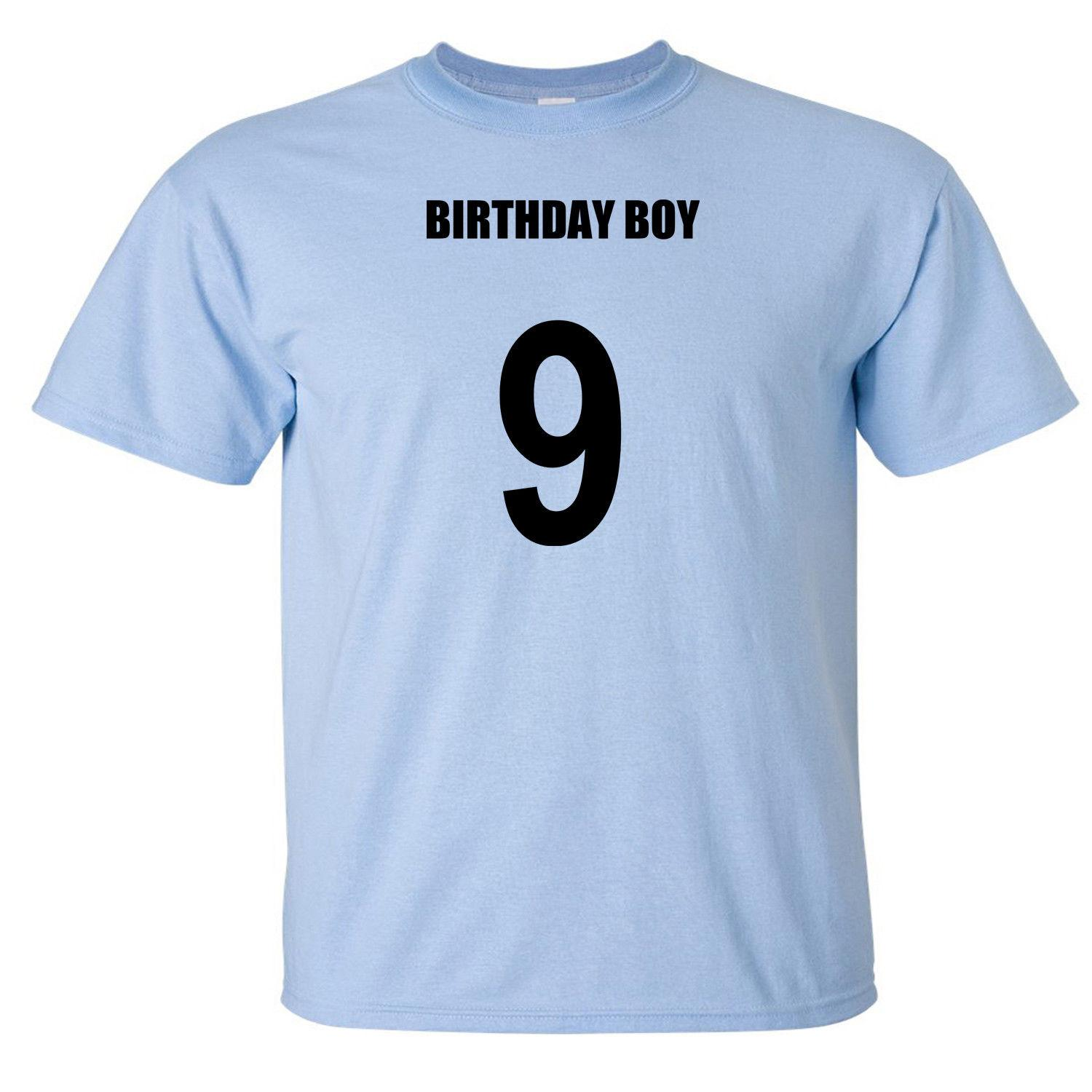 Birthday Boy 9th Ninth Nine 9 Year Old Male Baby Shirt