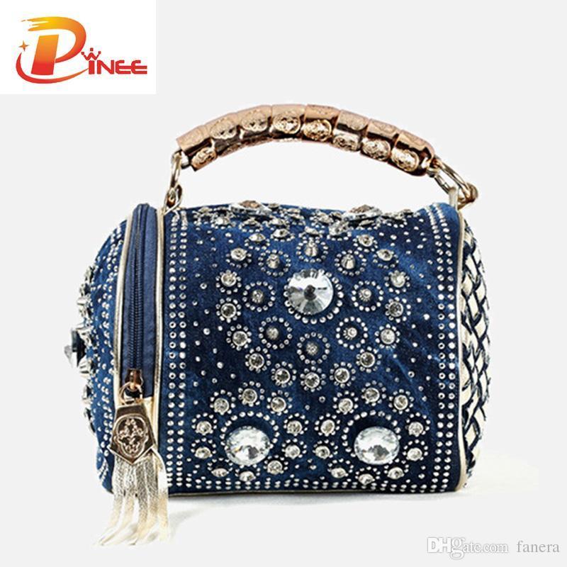 Wholesale Multifunction Designer Rhinestone Bags Luxury Women Handbags  Delicate Diamond Women Messenger Bag Travel Bags Tassel Bags For Sale  Handmade ... a6c092651e34