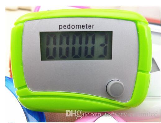 wholesale Pocket LCD Pedometer Mini Single Function Pedometer Step Counter LCD Run Step Pedometer Digital Walking Counter