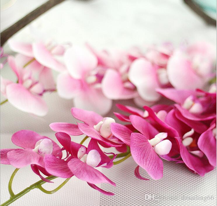 Real touch artificial single orchid silk flowers 11 heads for real touch artificial single orchid silk flowers 11 heads for wedding party centerpieces home holiday decoration 18901 silk flowers home decoration wedding mightylinksfo