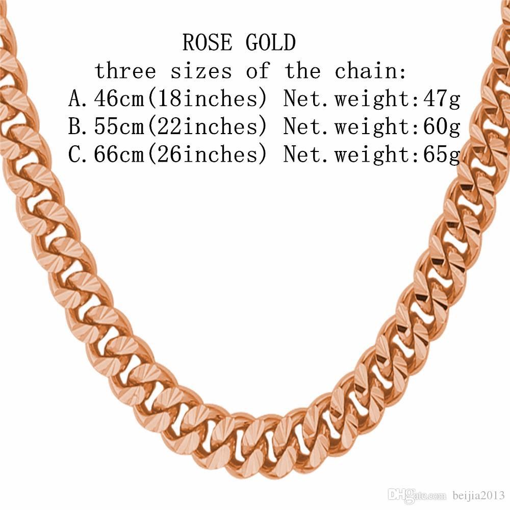 Gold Silber Schwarz Kette Curb Cuban Halskette Für Männer Punk Rock Stil Großhandel Black Gun farbe Geschenk Modeschmuck N838G