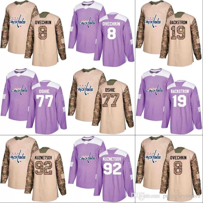 Washington Capitals Jersey Veterans Day Fights Cancer Practice 8 ... 6ec9a83f6