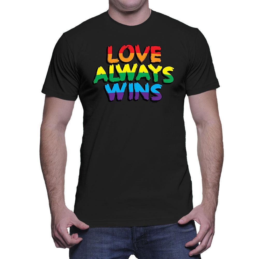 Love Always Wins Lgbtq Love Is Love Equal Gay Lesbian Mens T Shirt T