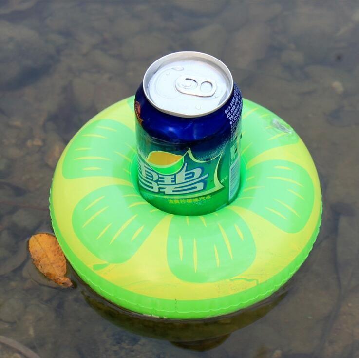 Portabicchieri a forma di gocciolante portabicchieri limone bere titolari Galleggiante stagno piscina tazza piattino lattine Bar Coaster titolare
