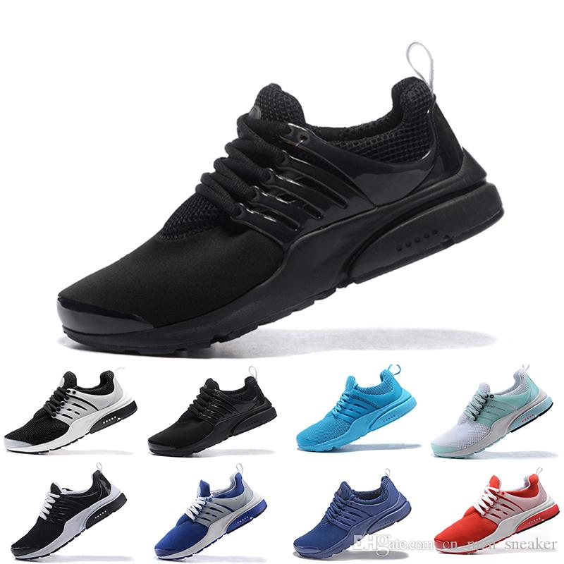 5ed44e1228a046 Presto 5 Running Shoes Men Women BR QS Blue Black White Yellow Walking Gym  Fashion Trainers Sneakers Sports Shoes Online with  80.75 Pair on ...