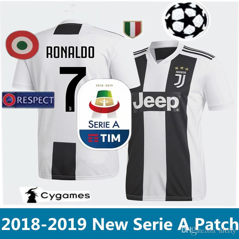 sports shoes 6d78f 82ef0 New Serie A Patch 2018 2019 RONALDO JUVENTUS DYBALA MARCHISIO MANDZUKIC  Soccer Jerseys 18 19 PJANIC CHIELLINI Bernardeschi Football Shirts