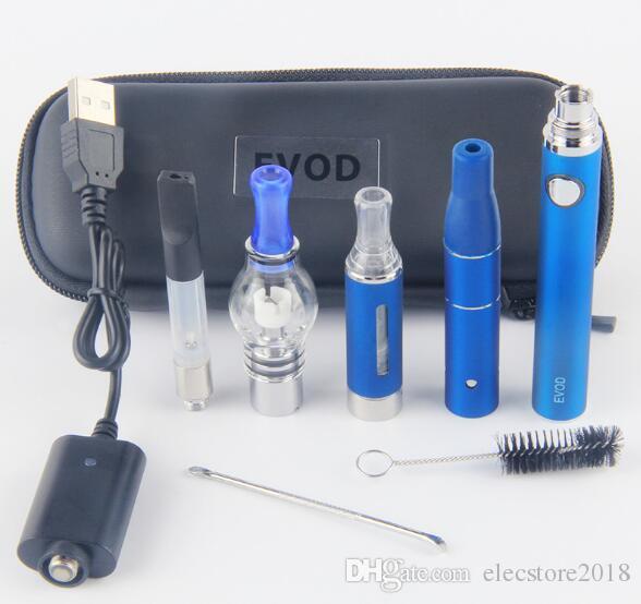 Vaporizador eVod 4 em 1 Starter Kits CE3 Vape Cartuchos Kit Herb Dab Seco Kit Caneta Vapes de Vapor de Óleo de Cera de 510 Rosca de Bateria Super Vape Canetas