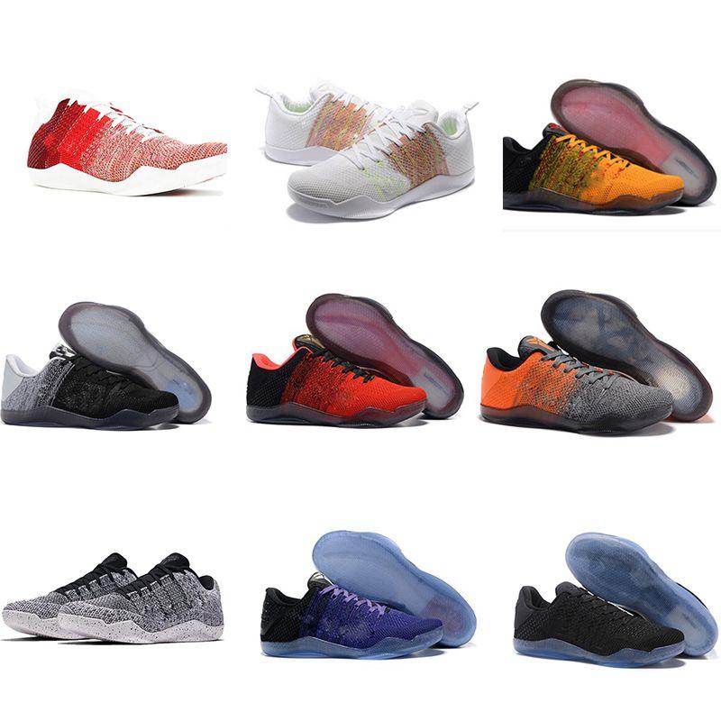 newest a4775 c359b Acheter Nike Kobe 11 Elite Low Pas Cher Vente Kobe 11 Bas Basket Chaussures  De Sport Pour La Qualité Supérieure Hommes KB 11 S Mentalité 3 3M Noir Vin  Rouge ...