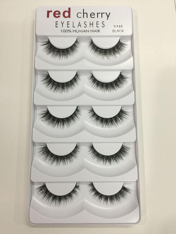HOT makeup Red Cherry False eyelashes /pack 8 Styles Natural Long Professional makeup Big eyes High Quality DHL shipping