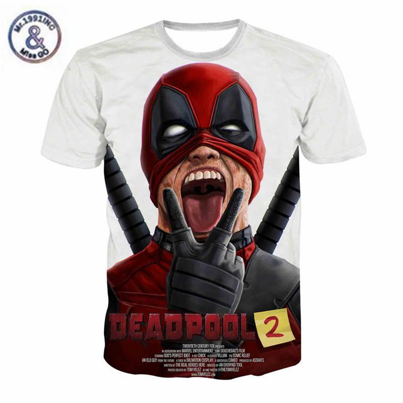 f1643fdc Summer New Marvel Tees Badass Deadpool T Shirt Men Women Funny 3D T Shirt  Casual Summer Tops Teen Clothing Camisetas Hombre Shop Online T Shirts T  Shirt ...