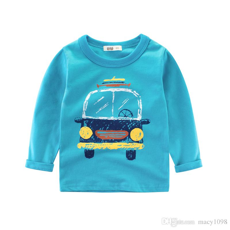Spring Autumn boys tshirts baby kids tee cotton long sleeve Cartoon clothes t-shirt super cute gifts