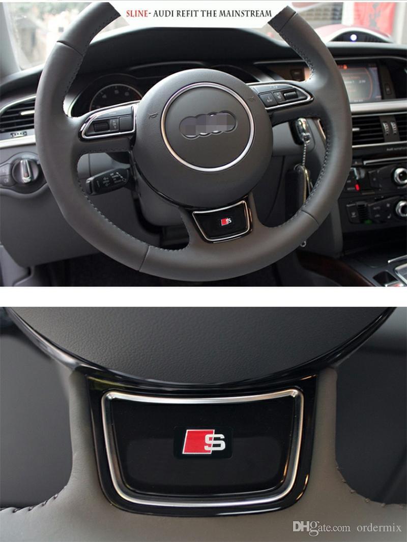 10 unid. S Line Metal Car Door / ventana Emblema Decoración 3D Sline Pegatinas Para Audi S Sports A1 A3 A4 A5 A6 A7 A8 S8 Q3 Q5 Q7