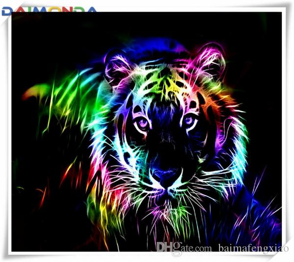 Arts,crafts & Sewing 5d Diamond Painting Tigers Diamond Embroidery Animal Cross Stitch Home Decor Round Drill Mosaic Needlework Childrens Gift New