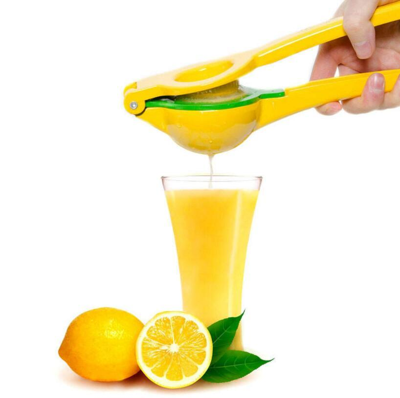 Double Layers Lemon Orange Squeezer Aluminum Alloy Juicer Hand Manual Citrus Press Kitchen Fruit Tools 60pcs OOA5425