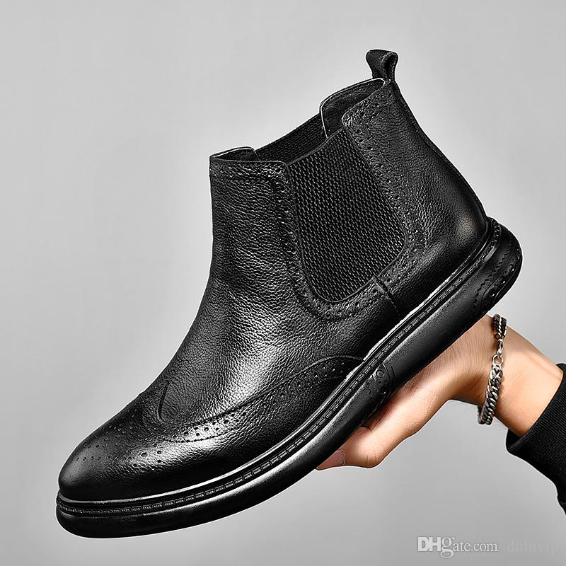 Genuine Leather Chelsea Boots For Men Imported Italian Cow Suede