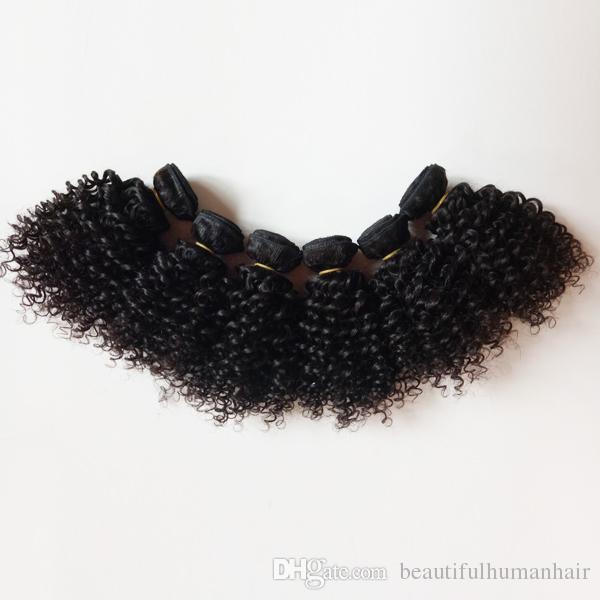 Brezilyalı bakire insan saç sıcak satış eteğine atkı 8-12inch Kinky kıvırcık saç Ucuz Fabrika toptan satış fiyatı Avrupa Hint Remy insan saçı