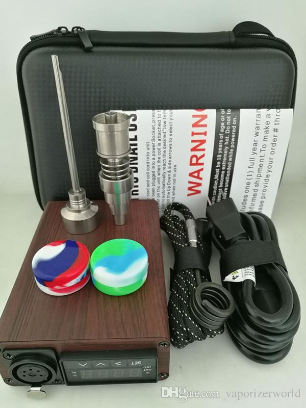 Portable Quartz Enaille Kit Électrique DAB DAB PID Température Contrôle de la température E Cire Vaporisateur de cire 14 18mm Huile Boîte à plate-forme Verre Bong