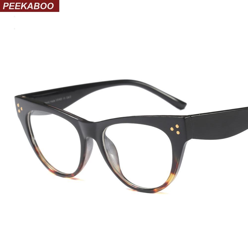 dc1c2fc1ce5 Peekaboo Clear Cat Eye Glasses Frames for Women Designer Brand Sexy ...