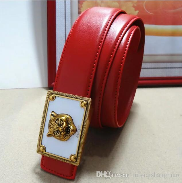 45d7814ea14 2018 Belt High Quality Brand Designer Belts Luxury Fashion Belts For Men  Copper Type Tiger Head Belt Men And Women Waist Cowhide Belt 105CM Black  Stockings ...
