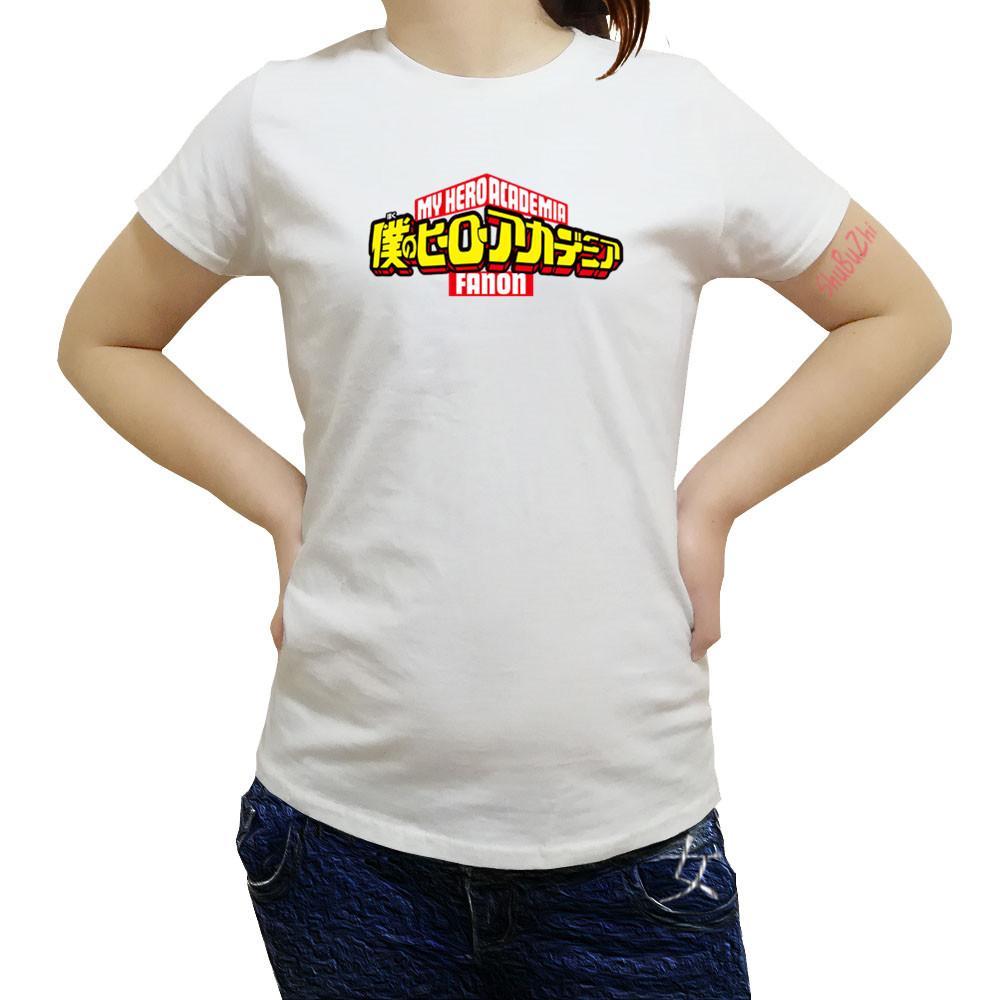 Compre Boku No Hero Academia Camiseta Japón Anime Cosplay Camisetas My Hero  Academia Algodón Mujer Manga Corta Tees A  21.76 Del Yukime  371c4ac8022
