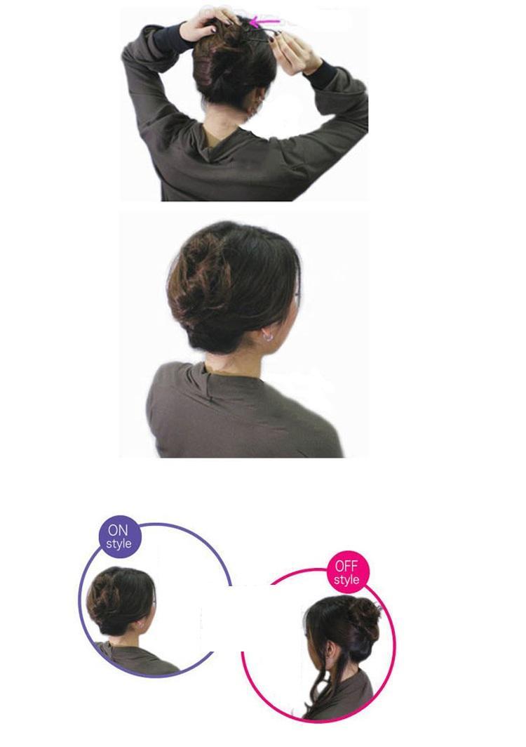 3 pz / set fermaglio capelli fermagli capelli le donne Accessori capelli capelli copricapo titolare scoppio bun creativo design a forma di U nero
