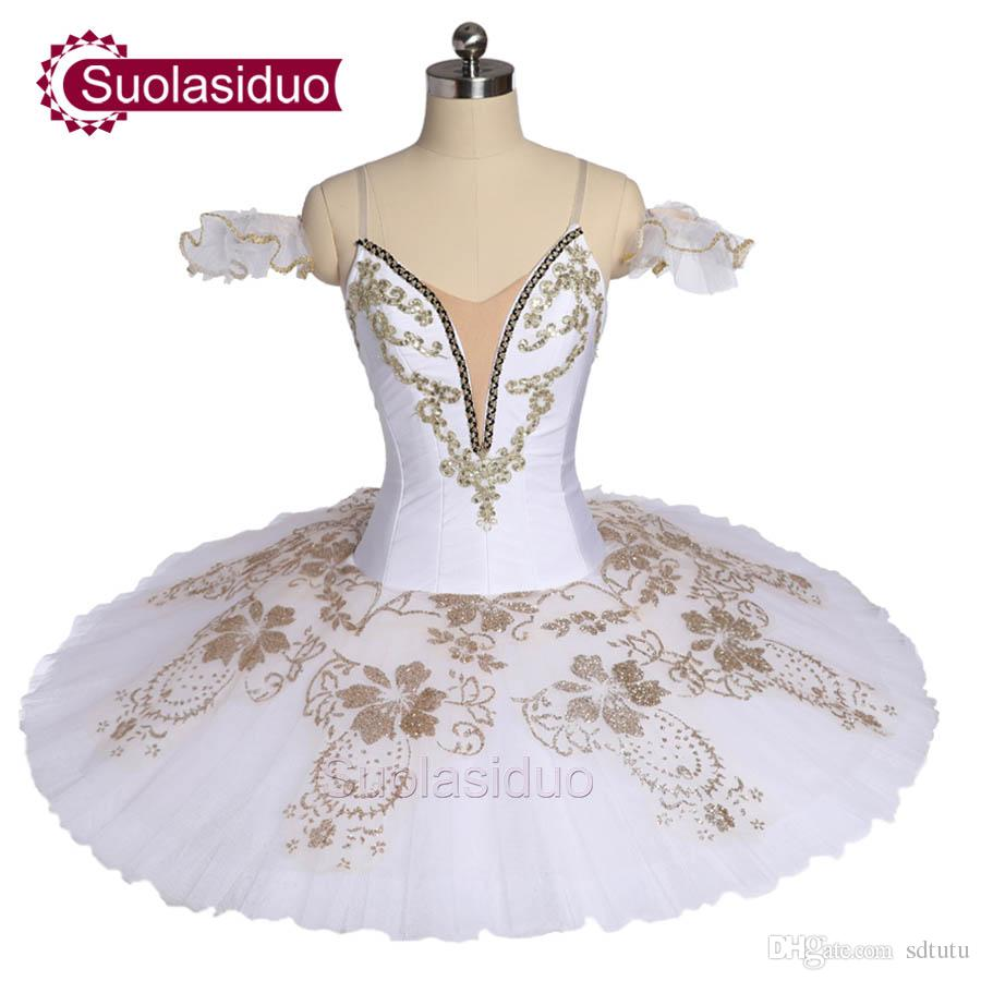 3117c6cf4 2019 White Professional Stage Ballet Tutu Apperal Girls The Swan Lake  Performance Competition Costumes Kids Dancewear Children Ballet Skirt From  Sdtutu, ...