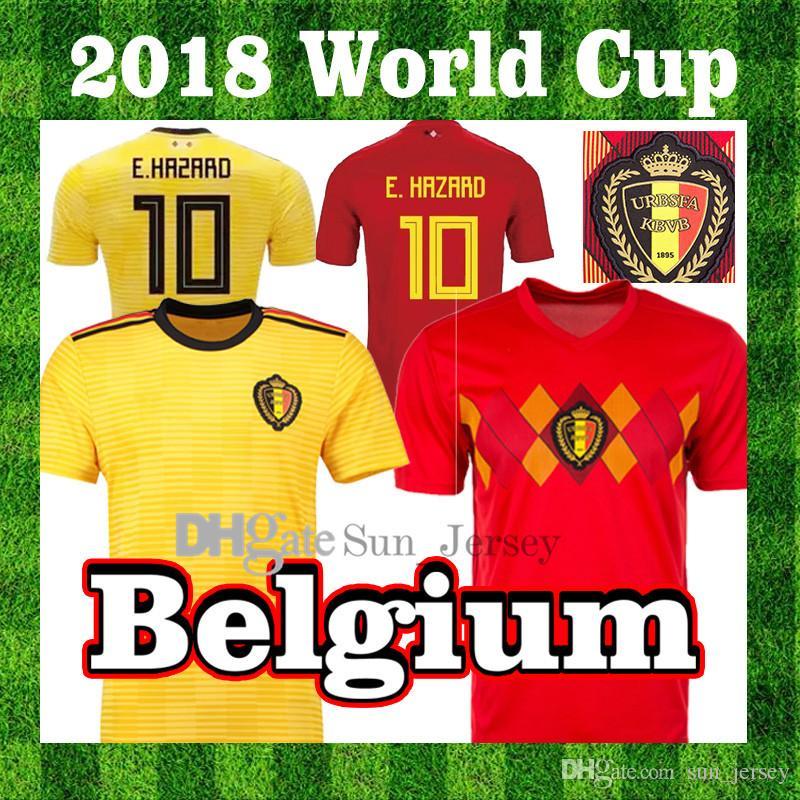 6fd1a6a96e2 2018 World Cup Belgium Football Jersey MERTENE DEBRUYNE E.HAZARD ...