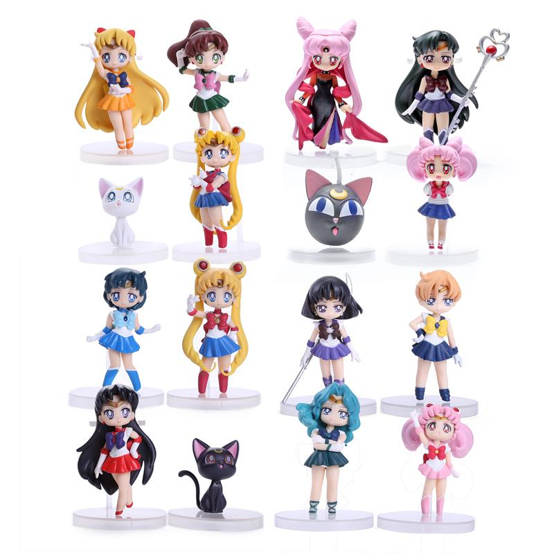 2018 Sailor Moon Christmas Figures Tsukino Usagi Sailor Mars Mercury ...